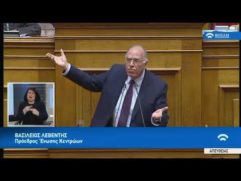 Β.Λεβέντης(Πρόεδρος Ένωσης Κεντρώων)(Προϋπολογισμός 2019 )(18/12/2018)