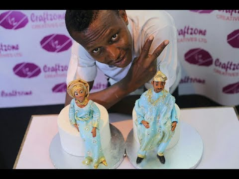 - How to make a beautiful bride and groom cake toppers in few minutes by kema Abuede