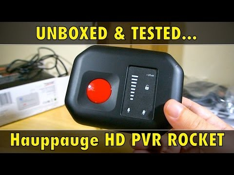 PVR - Hauppauge one of the best known names in game capture devices have a new gadget, the HD PVR ROCKET. Lets see how well it works in this unboxing of the HDPVR ...