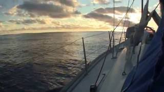 Sailing past Pitcairn and on to Mangareva. Our longest passage yet, 15 days. Rough weather.