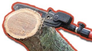 A power pruner is a great tool for pruning limbs near ground level.  Echo calls it an Echo Power Pruner.  Sthl calls it a Stihl Pole Pruner.Felco Number 2: http://amzn.to/2jWOnJ5Felco F600 Pruning Saw: http://amzn.to/2q34p7uJohn's Edging Tool: http://amzn.to/2kizi5zJohn's 5 Tine Manure Fork for Mulching: http://amzn.to/2jxpVBLLesche Soil Knife: http://amzn.to/2pxuSgHTools and supplies: http://astore.amazon.com/ldullc-20Landscaping Website: http://www.landdesigns.com/Chainsaw and Wood Splitting website: http://sawsandsplitters.com/Topics included in this video:power pruner, chainsaw, extendable chainsaw, pole pruner, telescoping pole saw, tree pruner, long reach pole pruner, extended reach pruners, chainsaw pole pruner, stihl ploe pruner, echo power pruner