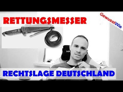 Rettungsmesser - Rechtslage Deutschland