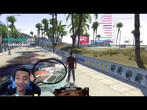 FlightReacts Proud Of Ronnie2K after Reacting To NBA2k21 New Park