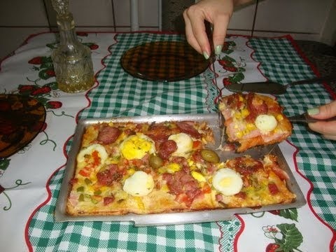Pizza de Pão de Forma (Cozinhando com a Pah)