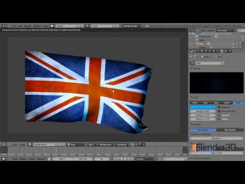 Как создать 3d флаг