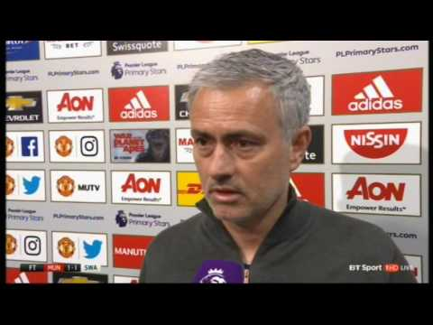 Man Utd 1 Swansea 1: Jose Mourinho Post-Match Interview