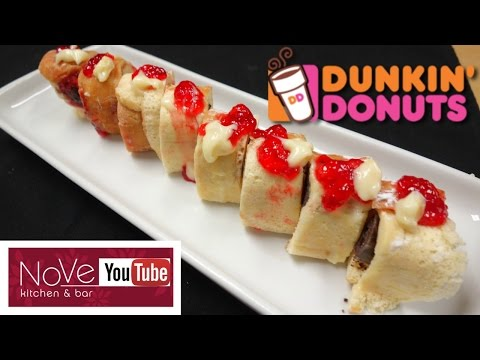 Making Sushi Out Of Dunkin  Donuts