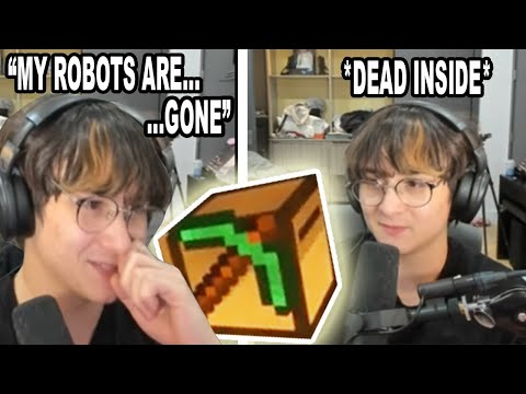 Michael Reeves Explains How His *MINECRAFT ROBOTS GOT DESTROYED*