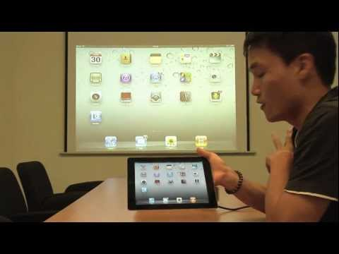 Wireless projection of your iPad desktop