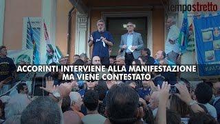 Manifestazione per il Piemonte. Accorinti contestato e fischiato