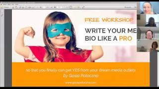 Write Your Media Bio Like a Pro - Workshop by Gosia Potoczna