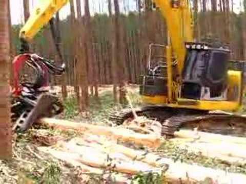 harvester florestal komatsu forest