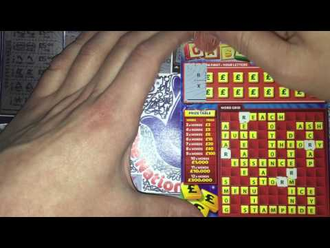 Scratchcards from The National Lottery © (55) Countdown Episode 4 of 4