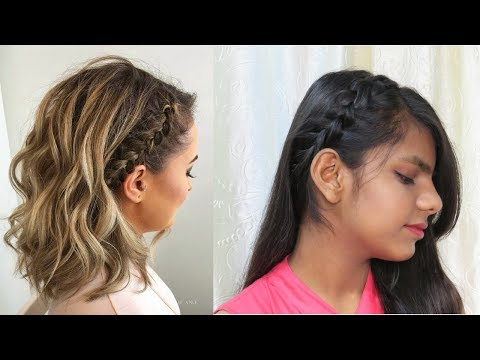 Short hair styles - Easy Hairstyle for Short Hair/Party Hairstyle/Dutch Braid