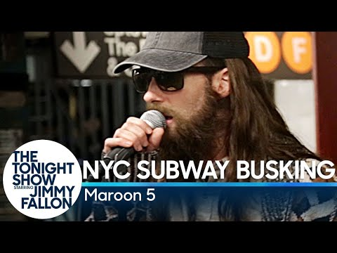 Maroon 5 Busks in Disguise in NYC Subway Station