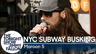 Video Maroon 5 Busks in NYC Subway in Disguise MP3, 3GP, MP4, WEBM, AVI, FLV Maret 2019