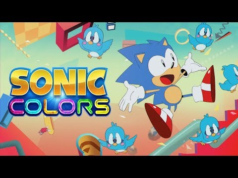 Sonic Mania Opening With Sonic Colors