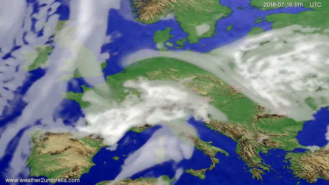 Cloud forecast Europe 2018-07-13