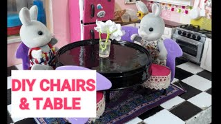DIY CHAIR AND TABLE MINIATURE FOR DOLL HOUSE | RECYCABLE MATERIALS | DIY HACKS FOR DOLLS