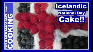 Icelandic National Day is coming up in a few days. This annual holiday (Icelandic: Þjóðhátíðardagurinn) was chosen to coincide with the birthday of Jón Sigurðsson. Jón is a major figure of Icelandic culture from the 19th century.Perfect time to start thinking of ways to celebrate and here we came up with an Icelandic Flag Cake which is a fast fun way to serve during the holiday. 🎈Icelandic Flag Cake Recipe🌻🌻 Ingredients 🌻1/4 cup of sugar1/2 a stick of unsalted butter2 eggs1 cup of flour1/2 tablespoon of baking powder1/4 teaspoon of salt1/2 cup of milk1/2 teaspoon of vanillablueberriesraspberrieswhipped creamconfectionary sugar and waterBake at 350 F for approx. 30 minutes.Enjoy a slice of cake with a cup of coffee.☕ 🍴 🥄To get complete recipe with instructions and measurements, check out our bloghttp://scandinavtoday.blogspot.com/2017/06/icelandic-flag-cake-recipe-to-celebrate.html🍰  We hope you enjoyed our video and recipe!  Give us thumbs up if you like this video & subscribe for more videos. 👍👍 Thanks! Tak!❄️For notifications of our video release click on the bell (lower left of the video)❄️ SUBSCRIBE to learn how to make Scandinavian dishes. https://www.youtube.com/user/ScandinavianToday❄️ Our Scandinavian Today Cooking Show includes Nordic recipes including Danish, Norwegian, Swedish, Icelandic and Finnish. You might be interested in other Nordic cooking videos includingÆbleskiver ♥ How to Make Danish Aebleskiver with Apple Filling  ❅https://youtu.be/mb8Y9IyfMS4How to make Swedish Glogg for Christmas & cold evenings! (glögg or mulled wine recipe) https://youtu.be/uDJNn6-nZFE?list=PLa1Ox7dzyyvmNEm41VkP1FP_SPhgeUkzSHow to make our easy Danish cucumber salad (Agurkesalat) recipe https://youtu.be/8J-4NPWaTlUHow to make Danish Kringle - A Delicious Danish Pastryhttps://youtu.be/cuqgIlPXlQUNorwegian Cake Recipe - Kvæfjordkake - How to make the World's Best Cake!https://youtu.be/saXxDx1IDo4Finnish Spoon Cookies - Lusikkaleivat https://youtu.be/ERckcGVYUXsFlatbraud - Ho