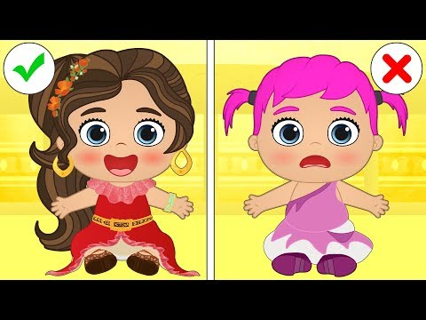 👶 Baby Alex and Lily 👶 Babies dress up as Fairy Tale Princesses | Cartoons for kids видео