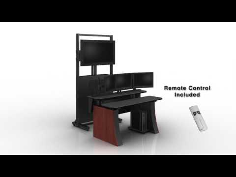 M-View Rize Adjustable Monitor Wall