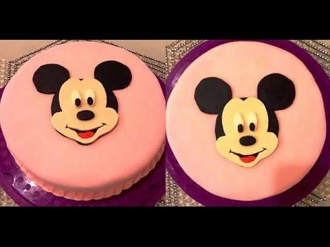 DIY: Micky Maus Torte/Motivtorte/Geburtstagstorte/micky mouse cake