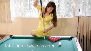 Video Seven trick shots with Mary Avina on Billiard Snooker Pool Table MP3, 3GP, MP4, WEBM, AVI, FLV April 2017