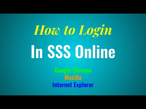 How To Login And Check SSS Contribution Online Using IE, Mozilla And Chrome