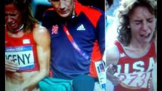 Very Sad  Moment For American Morgan Uceny Of The London Olympics (London News Coverage 2012)