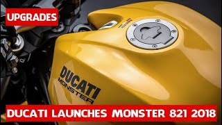 10. 2018 Ducati Monster 821 Details | Ducati launches Monster 821 upgrades 2018 new color price 11,995$