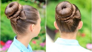 How to Create a Bow Bun | Prom Hairstyles - YouTube