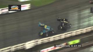 Knoxville Raceway 360 Highlights April 23, 2016