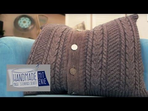 Kissenbezug aus Strickjacke | Handmade mit Enie – Mach's einfach selbst | sixx