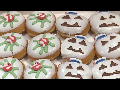 30th - Jim and Eric check out Krispy Kreme's Ghostbusters-themed donuts. Bustin' our waistlines makes us feel good.