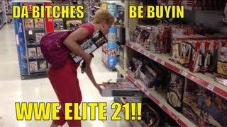 WWE ACTION INSIDER: Elite 21 at TOYSRUS!! store figure aisle s...