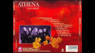 http://www.metal-archives.com/reviews/Athena/A_New_Religion%3F/9090/http://www.metal-archives.com/bands/Athena/707Artist : Athena Artist Origin : Italy Status: Split-upArtist Genre : Progressive/Power MetalLyrical themes: Fantasy, LifeYears active: 1991-2002Release Title : A New Religion? (1998)File Type : 320 kb/s mp3 Side note: Athena is the goddess of wisdom in Greek mythology. This time Fabio Lione is Athena's vocalist and he sure did bring some influences from his other bands. The new age feel of Inside, the Moon are gone and have been replaced with neo-classical elements and keyboard effects from Labyrinth. The pure prog has turned into a mixture of power and prog metal. Parts remind of Rhapsody, others of Stratovarius. On the first Rhapsody album (that was recorded one year before A New Religion) Fabio sounded just like the stereotype of an Italian singer. He didn't exactly lack power, but didn't have it either. He sung with a conspicuously annoying accent, ended up sounding a little bit whiny. Here, he doesn't. I haven't heard all his albums, but this sure is one of his better vocal performances. Accent is gone, power has arrived. He switches between the high-pitched kind of vocals and lower ones, always with emotion, always with a beautiful freshness. On a few songs he experiments with a more yelled way to sing which I've heard a few finding annoying. Though it isn't as good as the rest, and he ends up sounding like a very weak version of Lordi's vocalist, I haven't really got a problem with that.The music is melodic as one could expect with a drummer who seems to love his double bass. Even so, he's quite reasonable. The bass is strange. It's not the ordinary string picking here, no, instead is the guy playing independently, like a darker guitar with other notes. This leads to some occasional very interesting parts. The keyboards are always present – but in the background, just adding atmosphere, flavour to the compositions. Very minimalistically implemented, far from striking. It takes a few listens to even notice it's there. Even if it's the vocals that are the most prominent parts of Athena's music, the guitars aren't far behind. They are crunchy, they are melodic, and they are heavy. There is riffing, there are leads. But there are no solos. Athena doesn't need them; their sound pictures are fulfilled even without them, no need for flashiness here. The members accompany each other in a very nice way, but yet something's missing. I keep telling me that this is better than most prog I've heard, better than a lot of power metal. But it's not enough. Where's that spark named kick-ass? A New Religion is great for prog fans, but doesn't stand out enough for the rest of us. For us, it's just very good.Images used: http://images.coveralia.com/audio/a/Athena-A_New_Religion_-Trasera.jpghttp://coverlib.com/Download/1115365/Athena-A_New_Religion-2-Booklet.JPGhttp://coverlib.com/Download/1115367/Athena-A_New_Religion-2-Booklet.JPGhttp://coverlib.com/Download/1115358/Athena-A_New_Religion-2-CD.JPGhttp://mlb-s2-p.mlstatic.com/cd-athena-fabio-lione-a-new-religion-arg-semi-novo-2376-MLB4790401969_082013-F.jpgTRACKLIST1. In The Beginning 0:002. A New Religion 0:403. Soul Sailor 6:104. Apocalypse 10:235. Every Word I Whisper 15:086. Dead Man Walkin 18:497. My Silence 22:358. Secret Vision 29:199. The Keeper 35:3310. Teisted Feel 39:0311. Not Too Far 44:2212. Deep Red (Bonus) 48:02Music and Lyrics by Athenabuy the album here !! support the music http://www.amazon.com/gp/product/B00006IRN7Video and description by Neueregel