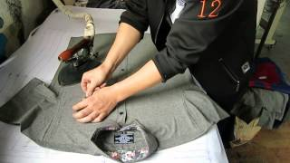 Custom Clothing Manufacturing Process: Ironing