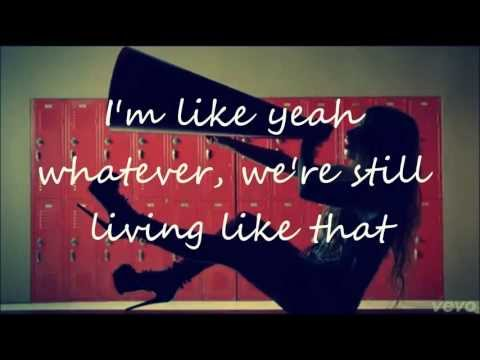 Avril Lavigne- Here's To Never Growing Up (Lyric Video) (Clean Version)HD