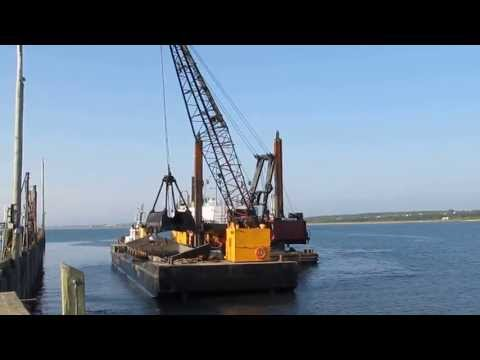 Dredging at the Meteghan Wharf