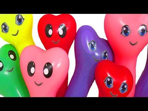 Воздушные шарики с водой Учим цвета для детей Развивающее видео Песня Семья пальчиков Лопаем шарики (видео)