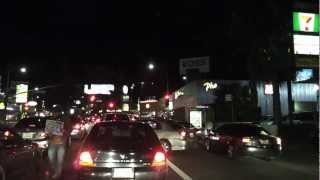 Time Lapse - Hollywood Blvd., Los Angeles Downtown and Santa Monica Pier