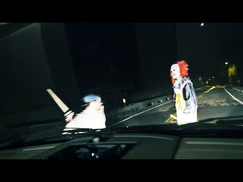 KILLER CLOWN RUN OVER Clown Sighting (Original Video)