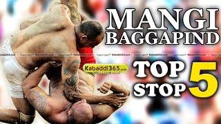 Top 5 Stop Mangi Bagga at Kabaddi Tournaments
