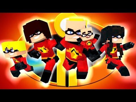 Minecraft: Who's Your Family?- OS INCRÍVEIS 2 O FILME  ( The Incredibles  ) (видео)