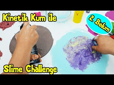 Kinetik Kumdan Ne Çıkarsa Slime Challenge | 2. Bölüm Vak Vak TV