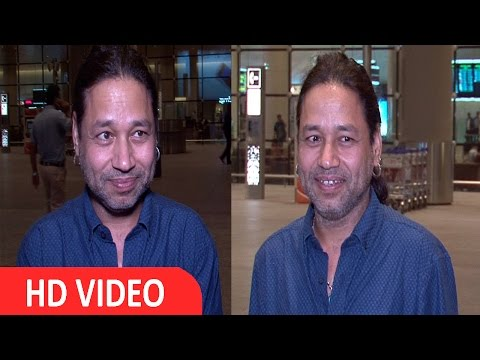 Singer Kailash Kher Spotted At Airport