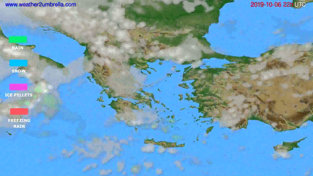 Precipitation forecast Greece // modelrun: 12h UTC 2019-10-04