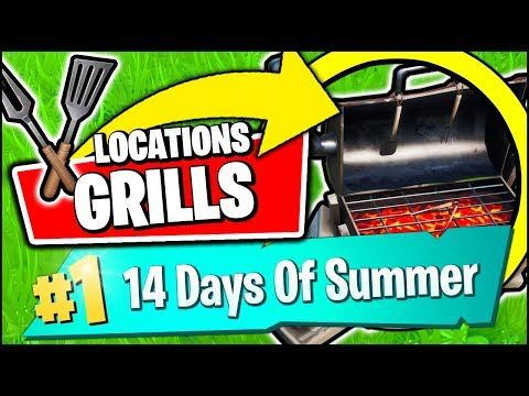 DESTROY GRILLS WITH THE LOW N' SLOW HARVESTING TOOL *LOCATIONS* (Fortnite 14 Days Of Summer REWARDS)
