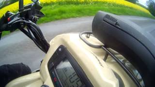 2. KYMCO MXU 500 vitesse max ( top speed )